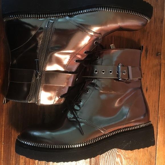 Michael Kors metallic ankle boots